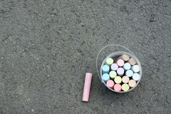 Sidewalk chalks Royalty Free Stock Photo