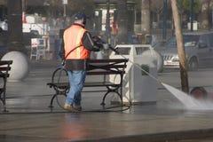 Sidewalk Cleanup Stock Image