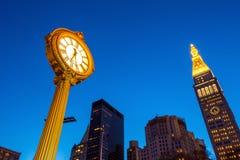 Sidewalk clock at 200 Fifth Avenue Royalty Free Stock Photos