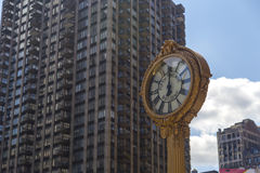 Sidewalk clock at 200 Fifth Avenue in New York City Royalty Free Stock Image