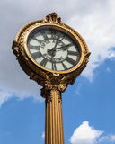 Sidewalk Clock NYC Royalty Free Stock Photography