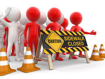 Sidewalk closed sign Stock Images
