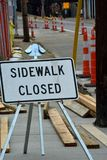 Sidewalk closed stock images