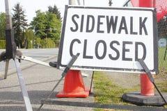Sidewalk Closed Signage Stock Images