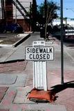 Sidewalk closed signs Stock Image
