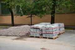 Sidewalk concrete blocks Stock Photos