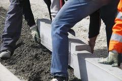 Sidewalk construction Royalty Free Stock Image