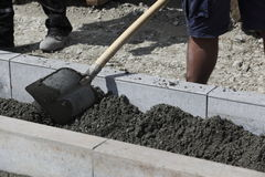 Sidewalk construction Stock Photography