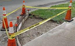 Sidewalk Corner Handicapped Construction Frame Stock Photo