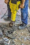 Sidewalk crack repairing 3 Royalty Free Stock Images