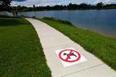 Sidewalk, dogs prohibited Royalty Free Stock Photos