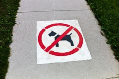 Sidewalk, dogs prohibited Royalty Free Stock Photos