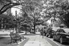 Sidewalk in Downtown Huntsville Stock Images