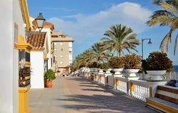Sidewalk in Estepona Stock Photo