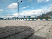 Sidewalk on the flyover. With sky background Stock Image