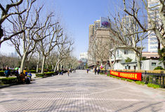 Sidewalk of Fuxing Park Royalty Free Stock Photos