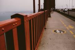 Sidewalk on the Golden Gate bridge Royalty Free Stock Photography