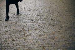 Sidewalk with granite pavement Stock Image