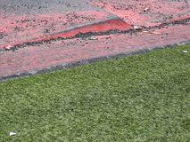 Sidewalk and grass verge Stock Photography