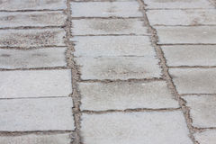 Sidewalk in gray colors Royalty Free Stock Photo