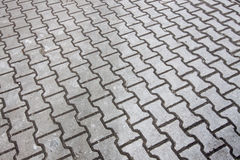 Sidewalk in gray colors Royalty Free Stock Images