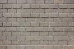 Sidewalk of gray street bricks Stock Photo