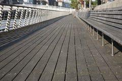 Sidewalk and Ha'Penny Bridge, River Liffey; Dublin Royalty Free Stock Photo