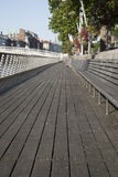 Sidewalk and Ha'Penny Bridge, River Liffey; Dublin Stock Photography