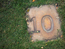 Sidewalk. Have a number 10 in the garden Stock Photos