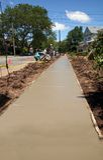 Sidewalk Improvement. Freshly layed cement as part of sidewalk improvement Stock Photos