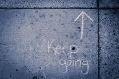 Sidewalk keep going-8436 Stock Images