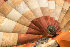 Sidewalk lantern with spiral stairway Stock Photography