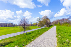Sidewalk on a levee at the Baltic Sea Royalty Free Stock Photography