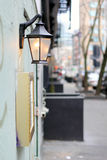 Sidewalk light Stock Photography