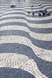 Sidewalk in Lisbon, Portugal Stock Images