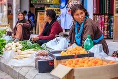 Sidewalk market in Leh, India Stock Photo