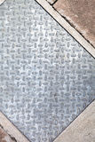 Sidewalk Metal Diamond Plate Royalty Free Stock Photography