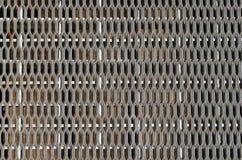 Sidewalk metal grate. Texture, pattern Royalty Free Stock Images