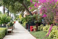 Sidewalk in Naples, Florida, USA Royalty Free Stock Photos