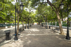 Sidewalk in old San Juan Royalty Free Stock Images
