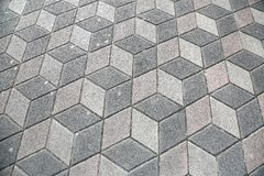 Sidewalk Pavement 3D Cubes Royalty Free Stock Image