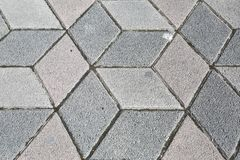 Sidewalk Pavement 3D Cubes Royalty Free Stock Photos
