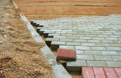Sidewalk pavement construction. Stock Photography