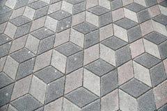 Sidewalk Pavement 3D Cubes. Sidewalk Pavement 3D ilusion Cubes Royalty Free Stock Image