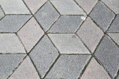 Sidewalk Pavement 3D Cubes Royalty Free Stock Photos