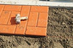 The sidewalk paving slabs Stock Image