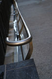 Sidewalk railing Stock Image