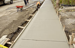 Free Sidewalk Reconstruction Royalty Free Stock Images - 21791409