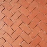 Sidewalk from red bricks Stock Photos