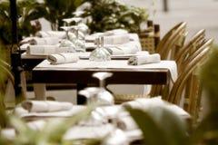 Sidewalk restaurant in Paris royalty free stock images